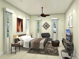 Casa Allea Guest Bedroom:  Bedroom by Constantin Design & Build