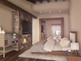 Casa en el Bosque - BCA Taller de Diseño: Recámaras de estilo  por BCA taller de diseño