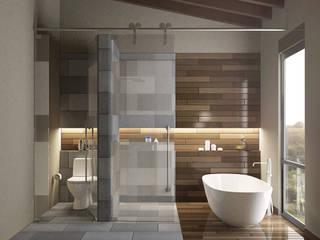 Casa en el Bosque - BCA Taller de Diseño: Baños de estilo  por BCA taller de diseño