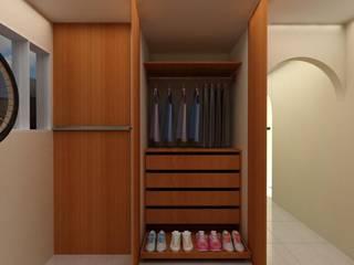 Habitacion Tipo Estudio y Closet habitacion principal de Arq. Barbara Bolivar Moderno