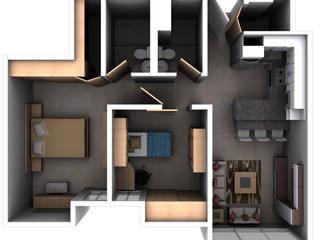 Remodelacion Interior Apartamento Caracas de Arq. Barbara Bolivar Moderno