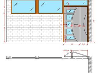 Diseño Mobiliario para oficina de Arq. Barbara Bolivar Moderno