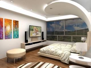 Diseño Mobiliario Habitacion Principal: Cuartos de estilo  por Arq. Barbara Bolivar