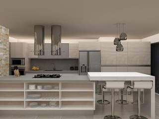 Diseño Cocina y Mueble Tv de Arq. Barbara Bolivar Moderno