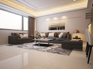 Modern living room by Hearts Interior Design 勁心設計研所 Modern