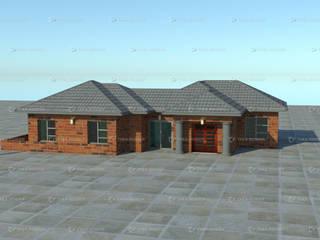 redbrick house design:   by COMFORT MAYINGANI ARCHTECTZ,