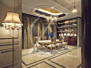 Luxury Kerala House Traditional Interior Design:  Dining room by Comelite Architecture, Structure and Interior Design