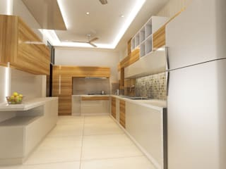 Residence-Pinjaniji Modern kitchen by KHOWAL ARCHITECTS + PLANNERS Modern