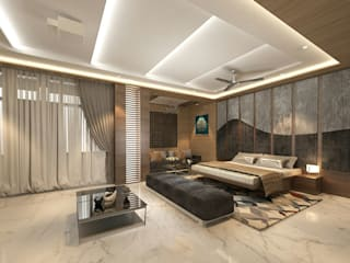 Residence-Pinjaniji Modern style bedroom by KHOWAL ARCHITECTS + PLANNERS Modern