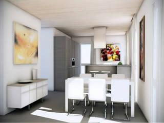 Appartamenti in legno Canton Ticino: Cucina attrezzata in stile  di Novello Case in Legno