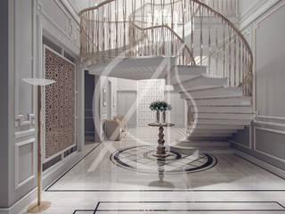 Contemporary Classic Villa Interior Design Classic corridor, hallway & stairs by Comelite Architecture, Structure and Interior Design Classic