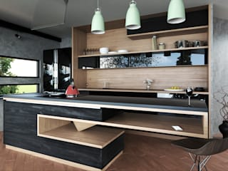 Adrede Diseño Built-in kitchens Wood Grey