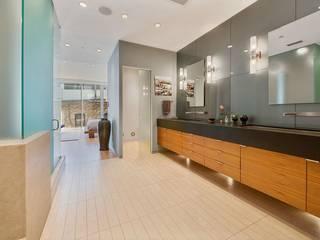 Grande suite parentale contemporaine Salle de bain minimaliste par Christophe Sarlandie Minimaliste