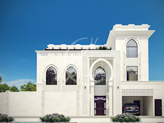 White Modern Islamic Villa Exterior Design by Comelite Architecture, Structure and Interior Design Classic