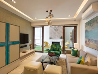 Living room by Total Interiors Solutions Pvt. ltd.