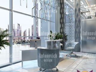 ​Office design concepts from Katrina Antonovich:  Study/office by Luxury Antonovich Design
