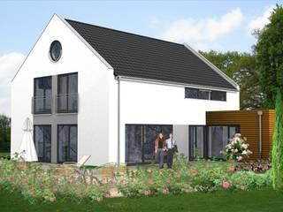 HAUS IDEE MIT SATTEL- ODER GIEBELDACH SI-CLASSIC 193: moderne Häuser von SI-Massivhaus