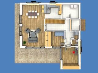 Grundriss EG:  Holzhaus von SI-Massivhaus