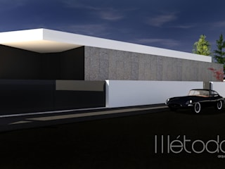 Alçado Principal: Casas unifamilares  por Método-Arquitectura & Decoração