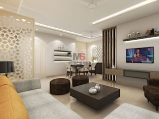 Bhiwadi:  Living room by Matter Of Space Pvt. Ltd.