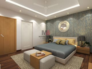 Bhiwadi Modern style bedroom by Matter Of Space Pvt. Ltd. Modern