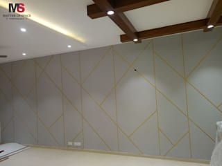 Gurgaon 21:  Living room by Matter Of Space Pvt. Ltd.