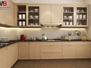 Gurgaon one:  Kitchen by Matter Of Space Pvt. Ltd.