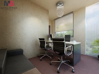 OFFICE DESIGN INDUSIND BANK:  Office buildings by Matter Of Space Pvt. Ltd.