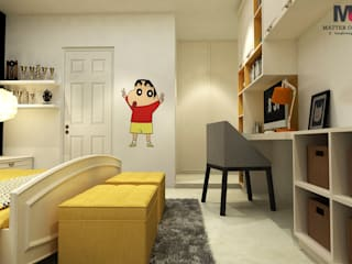 KIDS ROOM AND MBR ROOM DESIGN (RESIDENTIAL PROJECT IN PATEL NAGAR):  Nursery/kid's room by Matter Of Space Pvt. Ltd.