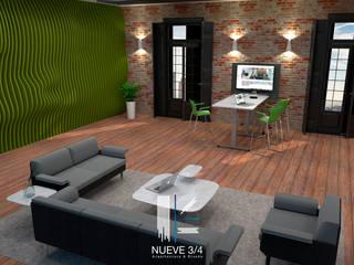 Diseño interior oficinas:  de estilo  por Nueve 3/4