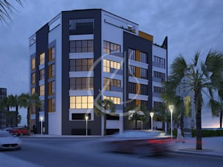 Apartment Contemporary Exterior Design:  Multi-Family house by Comelite Architecture, Structure and Interior Design