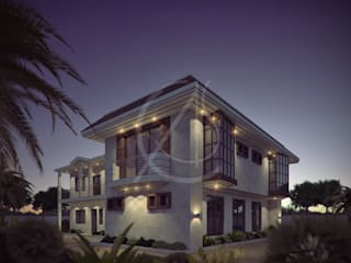 Guest House Exterior Design:  Villas by Comelite Architecture, Structure and Interior Design