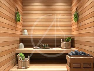 Sauna by Comelite Architecture, Structure and Interior Design ,