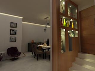 MALVIYA NAGAR RESIDENCE, NEW DELHI:  Dining room by Total Interiors Solutions Pvt. ltd.