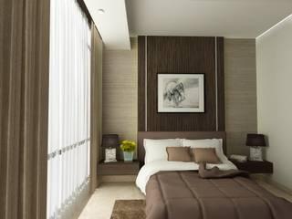 ASCCOT APARTMENT, KUNINGAN-JAKARTA Kamar Tidur Minimalis Oleh spacious.interiordnb Minimalis