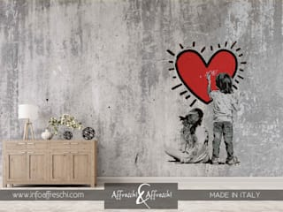 Romantic wall murals:  in stile  di Affreschi & Affreschi