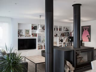 Reforma en Donostia Salones de estilo escandinavo de pls arquitectura Escandinavo