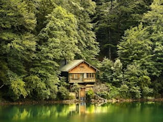 Дом в лесу : Гостиная в . Автор – Iuliia Gorodetckaia - homify