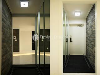 Pasillos, vestíbulos y escaleras de estilo rústico de Design Daroom 디자인다룸 Rústico