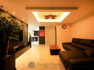 Salones rústicos de estilo rústico de Design Daroom 디자인다룸 Rústico