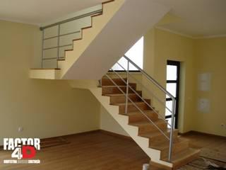 Factor4D - Arquitetura, Engenharia & Construção Salas de estilo moderno