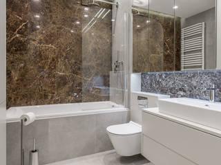 projekt wnętrza mieszkania: styl , w kategorii Łazienka zaprojektowany przez Dmowska design
