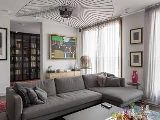 projekt wnętrza mieszkania: styl , w kategorii Salon zaprojektowany przez Dmowska design