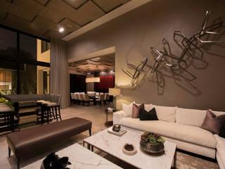 Casa Alanza: Salas multimedia de estilo  por VOA Arquitectos