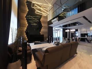 Phòng khách theo Kiwi Interior Sdn Bhd, Hiện đại