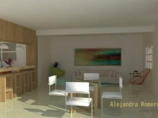 Interior de casa habitación: Comedores de estilo  por  Alejandra Romero Arquitectura
