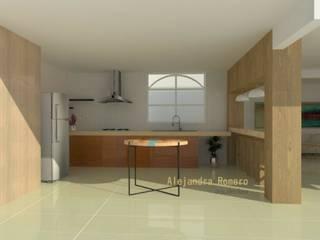 Interior de casa habitación: Cocinas de estilo  por  Alejandra Romero Arquitectura