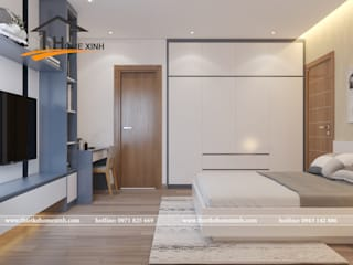 Camera da letto moderna di THIẾT KẾ HOMEXINH Moderno