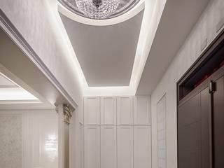 自地自建_獨棟別墅 經典風格的走廊,走廊和樓梯 根據 澤序空間設計有限公司 古典風