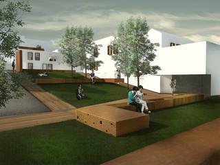 """Nuove residenze_progetto finalista concorso """"living the collective"""" hornachuelos, Spagna: Giardino in stile  di Architetto Maria Grazia Gai, Mediterraneo"""